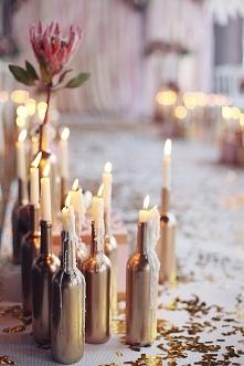 Świeczki + butelka = świetn...