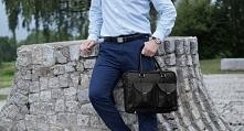 Skórzana torba męska na laptop marki Solome