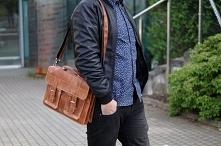 Karmelowa torba męska listonoszka marki Solome