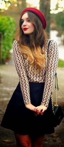 Paryska stylizacja na randkę. Kto by się nie zakochał!