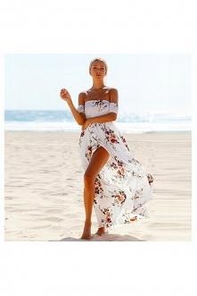 Piękna sukienka idealna na gorące dni