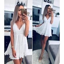 Modna biała sukienka idealn...