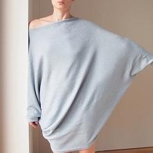 Sweterek oversize długi szary