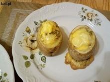 Ziemniaki nadziewane jajkiem.