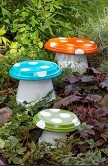 Div, rzeźba do ogrodu, garden, grzybki