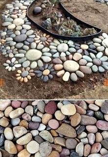 Garden, div, kamienie, ozdoba