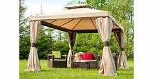 Solidny i wytrzymały pawilon ogrodowy Walencja z zasłonami oraz moskitierą. Umili wypoczynek i relaks w ogrodzie chroniąc przed słońcem oraz owadami.