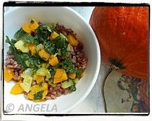 Czerwony ryż z dynią i jarmużem - Red Rice With Pumpkin And Kale - Riso rosso con zucca e cavolo verde
