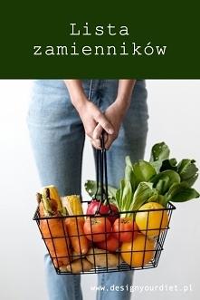 Dopasuj gotową dietę do swoich potrzeb. Sprawdź listę zamienników na blogu. L...