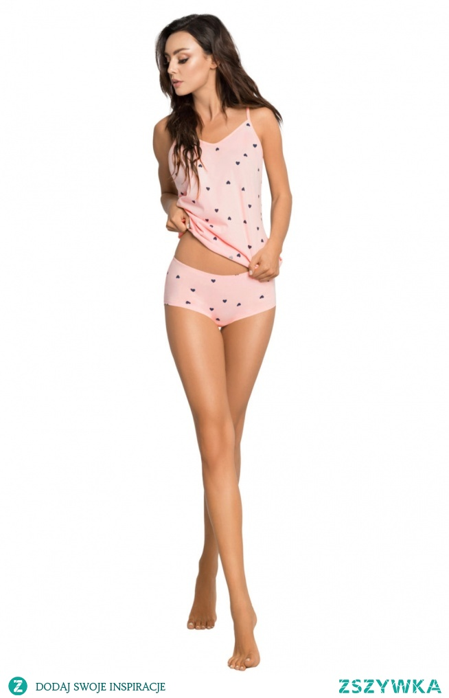 brzoskwiniowa bawełniana piżamka