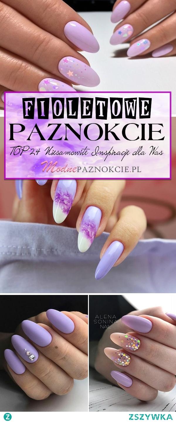 TOP 24 Niesamowite Inspiracje na Fioletowe Paznokcie