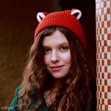 Lis - czapka z uszami