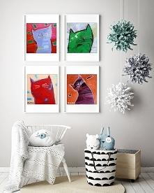 4 kociaszony 2- plakat 50x50