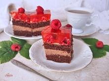 czekoladowe ciasto z malina...