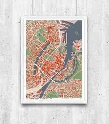 Kopenhaga - plan miasta, pl...