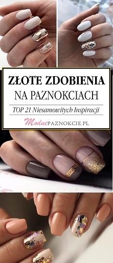 Złote Zdobienia na Paznokciach – TOP 21 Niesamowitych Inspiracji Które Musicie Zobaczyć!