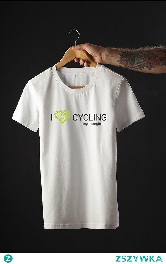 Koszulka T-SHIRT.  I love cycling - my lifestyle