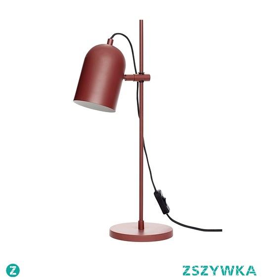 Lampa stołowa Studio czerwona metal 50cm