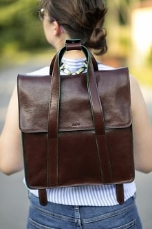 MEGAN - skórzany plecak 2 w...