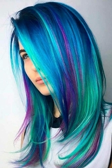 northern lights hair