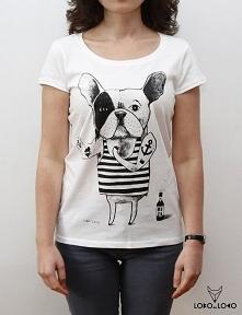Koszulka damska z Buldogiem...
