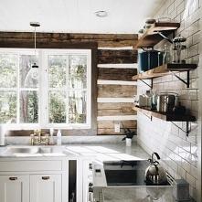 kuchnia rustykalna, drewno