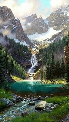 Jezioro w Kandzie. Emerald ...