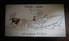 Pudełko na banknoty, zamiennik tradycyjnej koperty. :) Pudełeczko widoczne na zdjęciu wykonane na prezent dla Pary Młodej której pasją są sporty wodne. :D