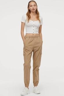 Spodnie cargo H&M, 59,9...