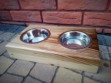 Bar (bufet) dla psa z drewn...