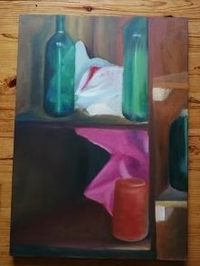 """Obraz olejny """"Martwa natura - wnętrze szafy"""" 50x70cm"""
