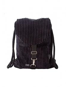Plecak czarny sztruks