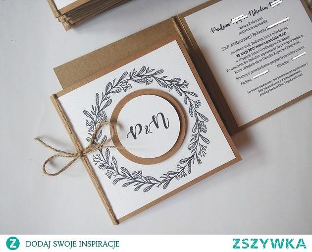 Zaproszenie ślubne rustykalne