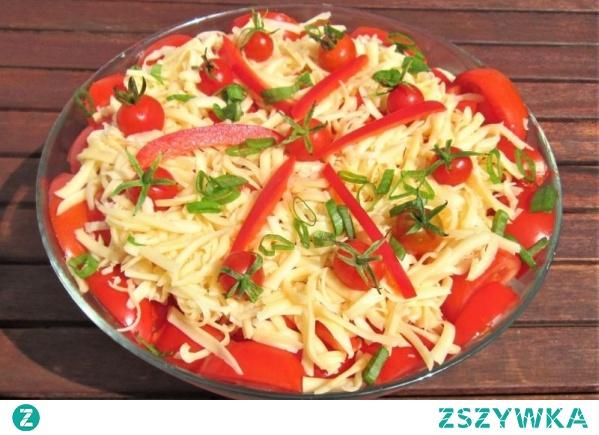 Sałatka pomidorowo serowa