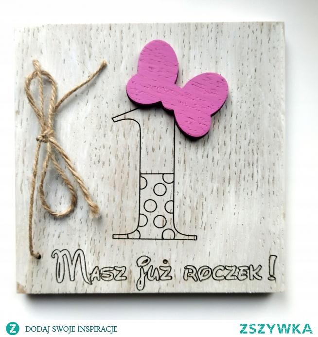 Drewniana kartka urodzinowa! do kupienia--> klik w zdjęcie