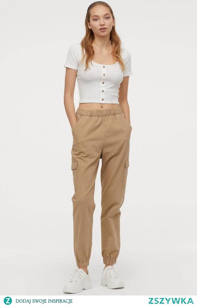 Spodnie cargo H&M, 59,99 zł