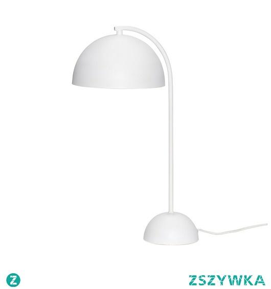 Lampa stołowa Malaga Cup biała metal 48cm