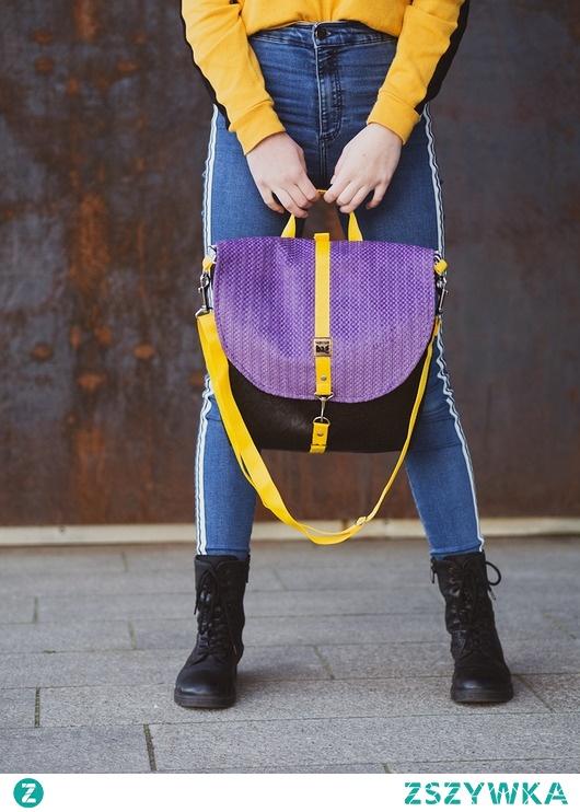 Brązowy plecak i torba 2w1. Torbister 002