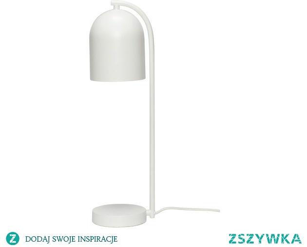 Lampa stołowa Malaga biała metal 50cm