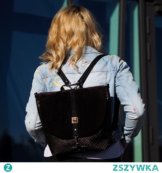 Brązowy plecak 2 w 1, zero waste TORBISTER 006