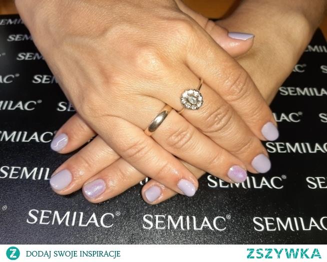 Semilac 175, efekt syrenki indigo szmaragd