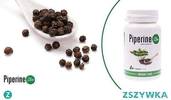 Piperine Slim to produkt, którego bazą jest piperyna, ekstrakt z czarnego pieprzu. Działa ona stymulująco na metabolizm tłuszczów i wydzielanie soków żołądkowych, które biorą udział w trawieniu spożytych pokarmów. Dzięki temu zwiększa się przyswajalność substancji odżywczych przez organizm oraz ich przepływ z jelita do krwi. Pipierine Slim przeznaczony jest dla osób, które pragną szybko schudnąć. Jego działanie zostało wzmocnione dodatkowo o ekstrakt z zielonej herbaty i guaranę. Zielona herbata redukuje tkankę tłuszczową, a guarana ogranicza apetyt.