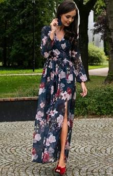 Efektowna długa sukienka w ...