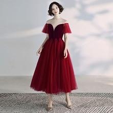 Piękne Burgund Sukienki Na ...