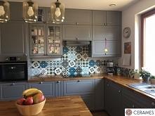 Szara kuchnia patchwork