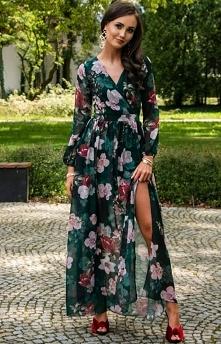 Długa sukienka w kwiaty 021...