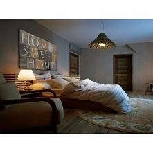 HOME SWEET HOME W BRĄZACH - NOWOCZESNY OBRAZ NA PŁÓTNIE - 120X80 CM