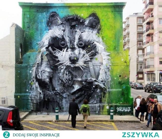 Portugalia, Lizbona  – autor muralu: Artur Bordalo