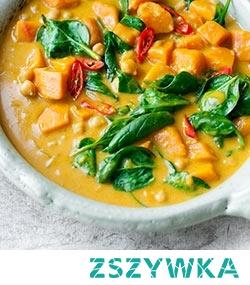 Tajskie curry z ciecierzycą, dynią i szpinakiem [klik]