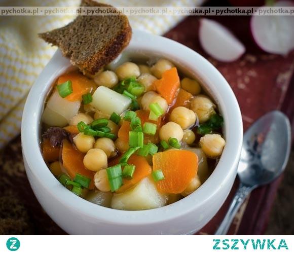 Zupa jarzynowa z grochem